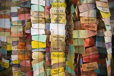 Ticket garland at Soho Anthropologie