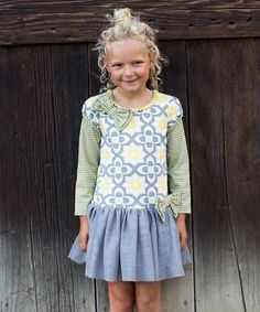 This Gray & Yellow Stripe Drop-Waist Dress - Infant, Toddler & Girls by Trish Scully Child is perfect! #zulilyfinds