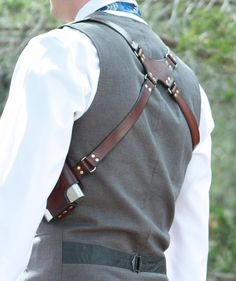 Double the fun!   Whether youre aiming for Stylish or Stealthy, this handmade leather shoulder holster will keep your flasks both discreet and handy