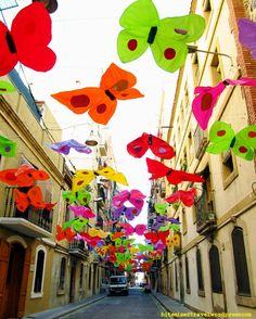 Butterflies in La Barceloneta, Barcelona  during La Mercè.