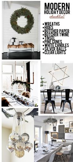 Modern holiday decor checklist