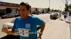 """I'm very fast. I'm like Forrest Gump."" Michael Scott"