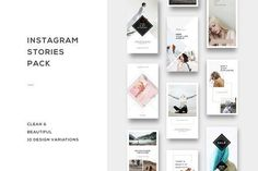 Instagram Stories Pack by Pande on @creativemarket #socialmedia #pack #post #stories #instagram #pinterest #social #media
