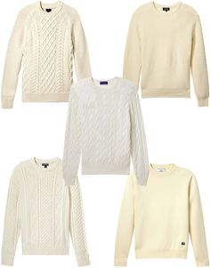 The Five Best Cream Sweaters for Men
