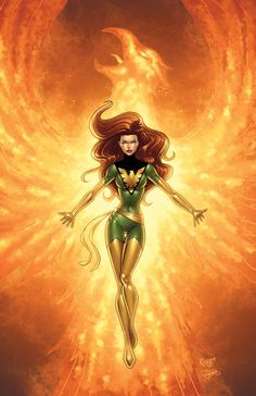 Phoenix Colored by *RichBernatovech on deviantART