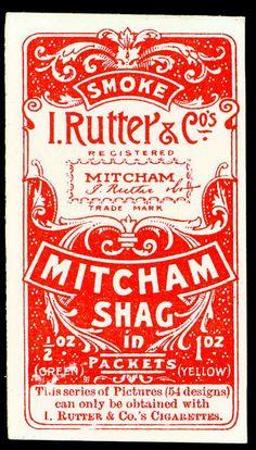 Typographic cigarette card design