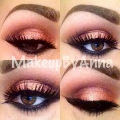 MAC-soft brown, sketch, mythology, carbon and Bare Minerals-Bahamas loose shadow with INGLOT eyeliner