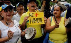 Reprimen con gas la manifestación contra el hambre en Venezuela