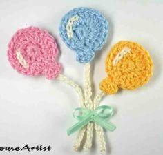 HomeArtist design - crochet ballons appliques