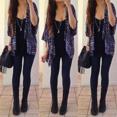 Fashion Image of Outfits With Black Combat Boots - Boot 2017