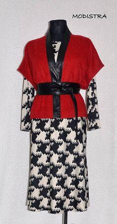 """Ovesrsize"" vesta s opaskom / Angeli Short Sleeve Dresses, Dresses With Sleeves, How To Make, Fashion, Moda, Sleeve Dresses, Fashion Styles, Gowns With Sleeves, Fashion Illustrations"