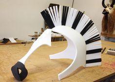 zebra animal mask head