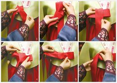 the way to tie Hanbok Gorum. not difficult at all!