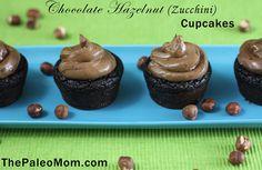 Chocolate Hazelnut (Zucchini) Cupcakes from The Paleo Mom