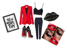 """""""Untitled #152"""" by vexx08 ❤ liked on Polyvore featuring Topshop, Christian Louboutin, Lulu Guinness and Americanflat"""