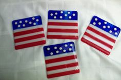 Patriotic Oversized Flag Coasters by tyfischer on Etsy, $28.00