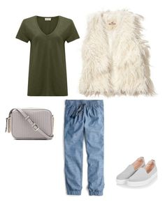 A fashion look from June 2017 featuring green t shirt, faux fur vest and blue pants. Browse and shop related looks. Faux Fur Vests, Blue Pants, Hollister, J Crew, Topshop, Fashion Looks, Boho, American, Polyvore