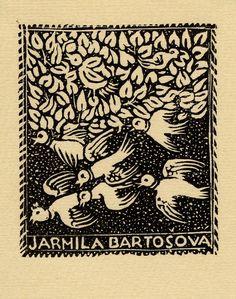 Anna Mackova, 1938, Ercolini Bookplate Collection