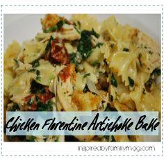 chicken florentine spinach artichoke bake