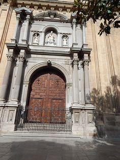 Church door in #Granada
