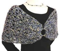 It's easy to look classy with this Shoulder Shrug since it's a simple crochet pattern. Made with Black Magic yarn, you'll look so fashionable in this lovely shrug.