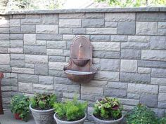 exterior wall design with stone tiles