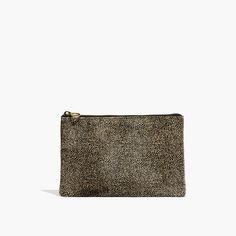 Madewell The Pouch Clutch In Spotted Calf Hair