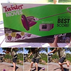 Twister Moves skip-it toy review, fun game that keeps you moving and active