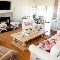 Balustrade Coffee Table, Contemporary, living room, Munger Interiors
