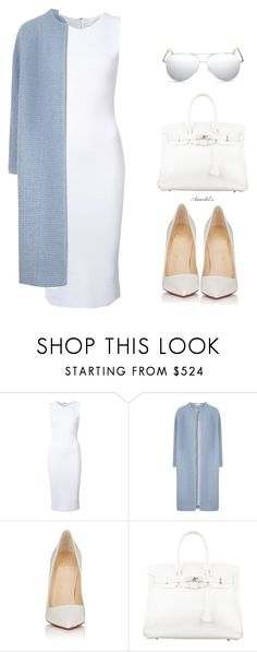 """""""Her Style"""" by aramarescobar ❤ liked on Polyvore featuring Victoria Beckham, Christian Louboutin and Hermès"""