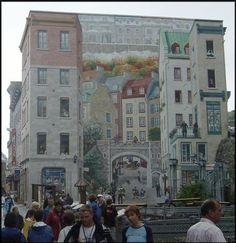 Trompe L'Oeil mural Quebec City Canada