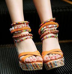 Summer Fashion Sandals Beaded High-heeled Sandals SS05233SH on Luulla