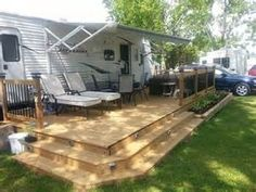 Trailer deck enhances outdoor living space | Trailer/camping ...