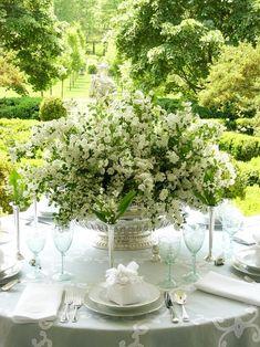 Wedding table, Carolyne Roehm