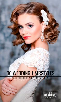 30 Short Wedding Hairstyle Ideas So Good You'd Want To Cut Your Hair ❤ If your short hairstyle is part of your individual style, then make it to highlight your image on the wedding day. See more: http://www.weddingforward.com/wedding-hairstyle-ideas-for-short-hair/ #wedding #hairstyle