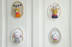 crocheted cameos-- i could die of cutenesssss!!
