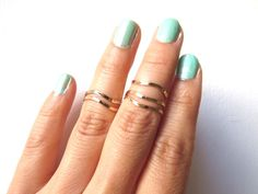 thin hammered rings