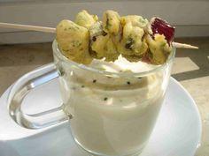 bushcooks kitchen: Blumenkohl-Wasabi-Suppe mit Tempura-Lemon-Chicken