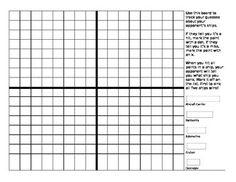 Coordinate Plane Bingo  Quadrants  Bingo Farby A Obrzky