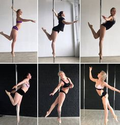 Pole Fitness, Barre Fitness, Fitness Exercises, Pole Dance Moves, Dance Poses, Pole Dancing, Boot Camp Workout, Barre Workout, Running Training