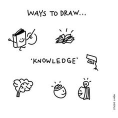 Knowledge - Ways to Draw Doodle Sketch, Doodle Drawings, Easy Drawings, Visual Management, Visual Thinking, Design Thinking, Visual Note Taking, Note Doodles, Visual Metaphor