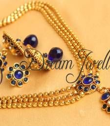 Buy BEAUTIFUL BLUE ANTIQUE NECKLACE SET necklace-set online my style