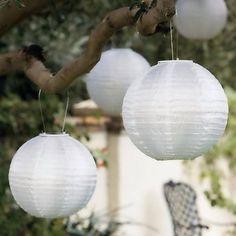 $7.9 - 10 Luminárias Japonesas Brancas Tecido Diam.30cm - AQUI PRESENTES