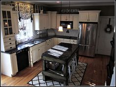 black and white kitchen-island