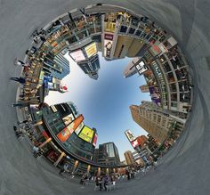 I love the way its a 360 degree panorama. It gives an interestion feeling that you are looking up from the bottom of a well or something.
