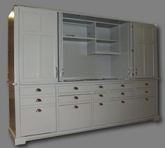 Our innovative Mini-Kitchen Armoires conceal complete unit kitchens within exquisite pieces of furniture that can be styled to blend with any room's décor. Kitchen Armoire, Kitchen Words, Mini Kitchen, Toyota, Basement, Kitchen Design, Room Decor, Amazing, Closet