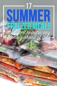 17 Summer Freezer Meals That Don't Require Cooking Ahead - 17 Summer Freezer Me. - 17 Summer Freezer Meals That Don't Require Cooking Ahead – 17 Summer Freezer Meals That Don' - Freezable Meals, Slow Cooker Freezer Meals, Make Ahead Freezer Meals, Dump Meals, Easy Meals, Inexpensive Meals, Frugal Meals, Freezer Meal Party, Budget Freezer Meals
