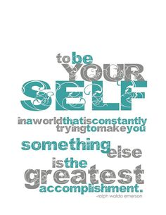 TO BE YOURSELF Art Print  Turquoise and Gray by BubbyAndBean, $20.00