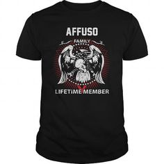 Cool  AFFUSO FAMILY LIFETIME MEMBER Shirts & Tees #tee #tshirt #named tshirt #hobbie tshirts #affuso