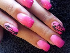 Day 275: Pink Palm Tree & Accent Nail Art - - NAILS Magazine